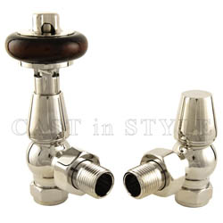 Faringdon Thermostatic Radiator Valve -  Nickel TRV