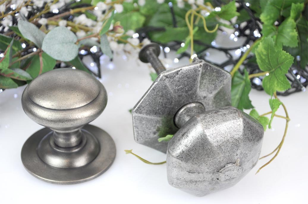 Pewter Centre Door Knobs | Cast in Style